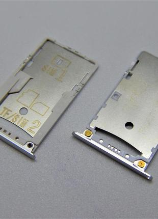 SIM лоток для Xiaomi Redmi 4X Silver