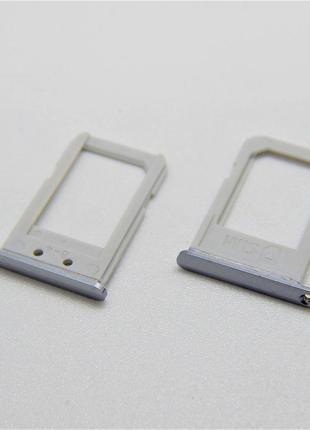 SIM лоток для Samsung G928F Galaxy S6 edge Plus Silver