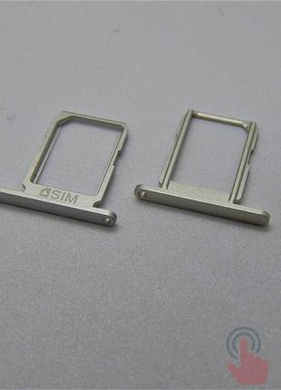 SIM лоток для Samsung G920F Galaxy S6 Silver