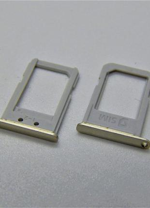 SIM лоток для Samsung G928F Galaxy S6 edge Plus Gold