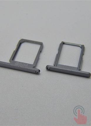 SIM лоток для Samsung G920F Galaxy S6 Grey