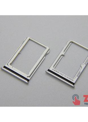 SIM лоток для Xiaomi Mi 8 (m1803e1a) Silver