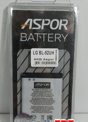 Аккумулятор Aspor для LG BL-52UH (L70 Optimus) (880169)