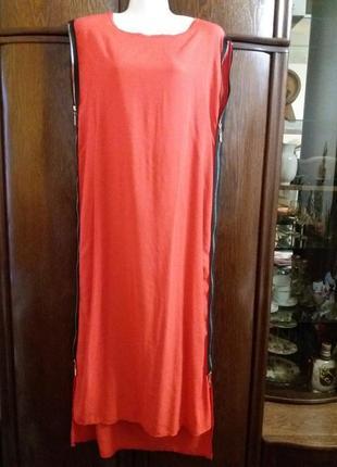 Платье с молниями по бокам прямое платье -м-л-40р турция