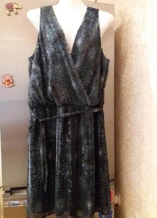 Платье на запах под поясок--drezzez-16-18-20р немецкое качеств...