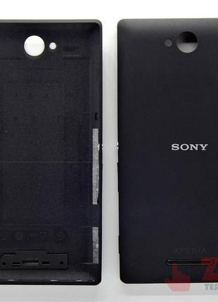 Задняя крышка для Sony Xperia C / C2305 Black (8000024B)