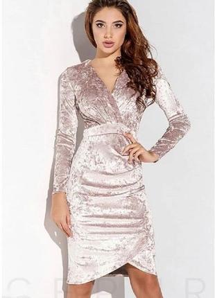 Платье мраморный бархат