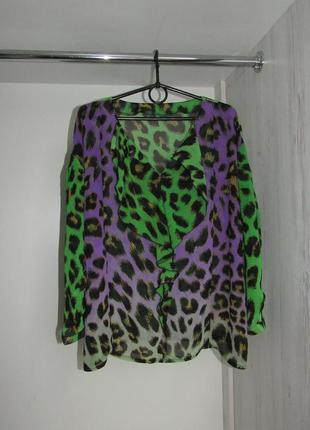 Необычная яркая леопардовая блуза от aleksa