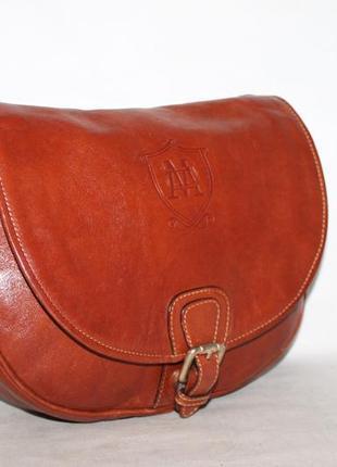 Стильная кожаная сумка от massimo dutti 100% натуральная кожа