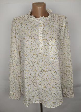 Блуза красивая легкая хлопковая в цветы uk 16/44/xl