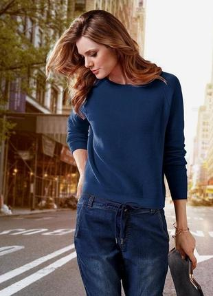 Хлопковый синий свитер tcm tchibo