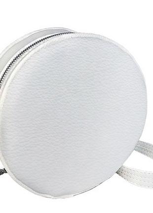 Сумка круглая белая Tablet