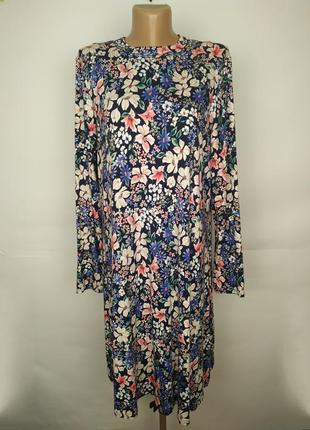 Платье цветочное привлекательное трикотажное натуральное marks...