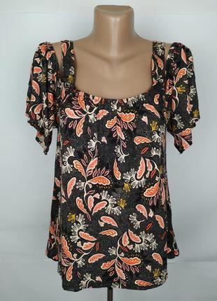 Блуза красивая натуральная в принт пейсли h&m uk 10/38/s
