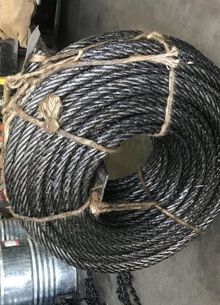 Трос на лебёдку зил, трос 16,5 мм, канат стальной