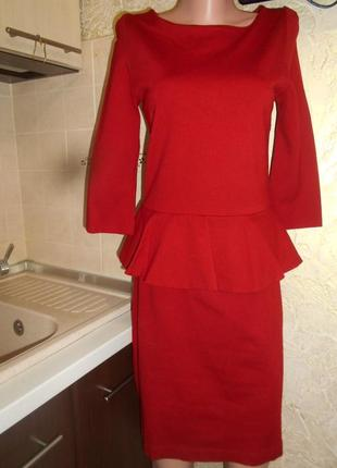 #hallhuber#турция #красивое утягивающее платье с баской #плать...