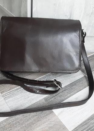 Кожаная сумка кроссбоди cafino. унисекс