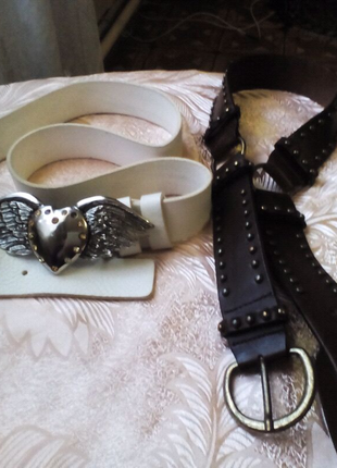 Ремень женский кожаный. Италия