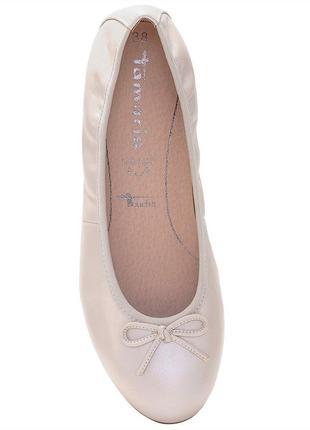 Кожаные балетки tamaris  25,5см