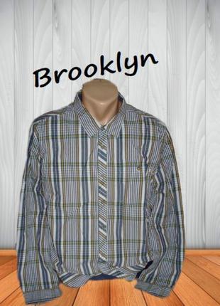 🌿🌿brooklyn стильная мужская рубашка длинный рукав xl🌿🌿🌿