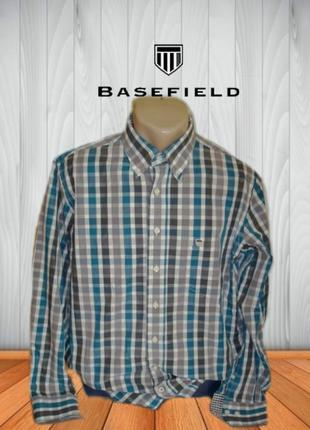 🌳🌳basefield fine poplin стильная мужская рубашка длинный рукав...