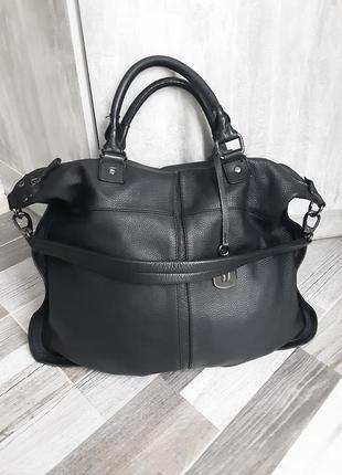 Большая кожаная сумка betty jackson