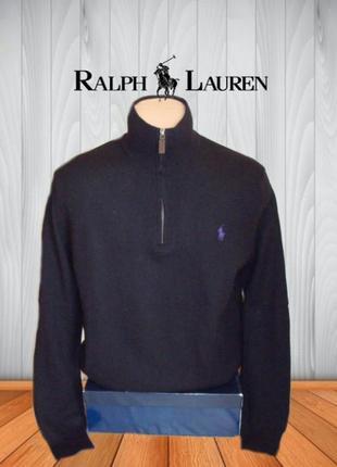 💨❄polo ralph lauren 100% мерино джемпер свитер мужской на замк...