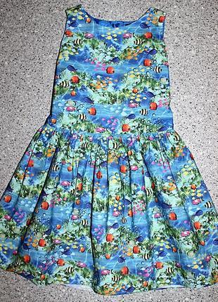 Платье море рыбки