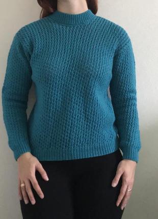 Шерстяной вязаный свитер, кофта