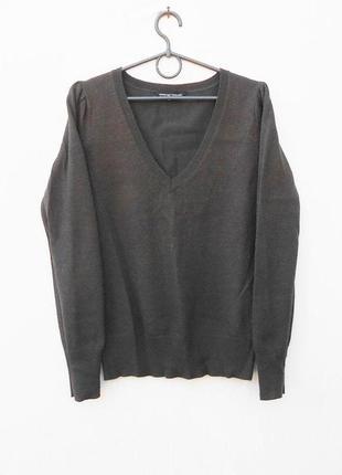 Трикотажный  свитер джемпер  с длинным рукавом