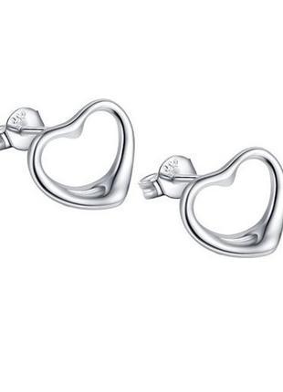 🏵стильные серьги в серебре 925 сердце, новые! арт. 2467