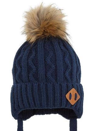 В наличии зимняя детская шапка + шарф на мальчика 2-6лет