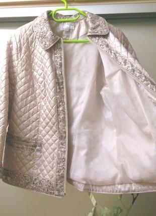 Красивая стеганая куртка демисезонная на синтепоне, осенняя, 5...