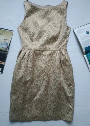 """Красивое золотое жаккардовое платье """"coast"""""""