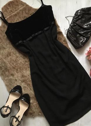 Вечернее платье с бархатом/чёрное платье (l/xl)