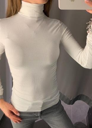 Базовый белый гольф водолазка amisu есть размеры