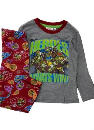 Детская пижама на мальчика черепашки ниндзя дисней