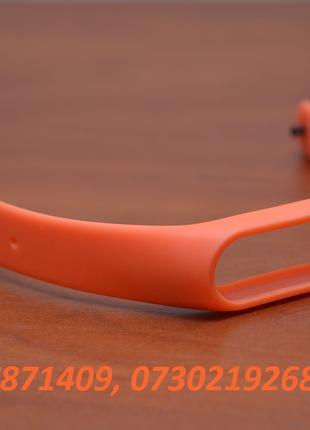 Оранжевый ремешок для фитнес трекера xiaomi mi band 2