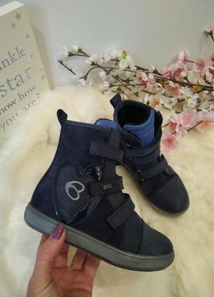 Красивые осенние ботинки для девочки, демисезонные ботинки, бо...