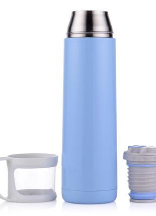 Термос H2O ZK D218 500ml Голубой