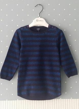 Теплое платье-туника с люрексом kiabi (франция) на 1,5-2 годик...