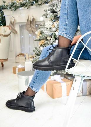 Ugg neumel boot! женские кожаные зимние угги/ сапоги/ ботинки ...