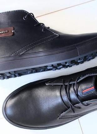 Lux обувь! кожаные зимние крепкие ботинки сапоги мужские