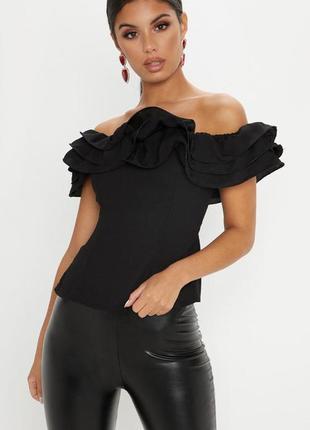 Ликвидация товара 🔥   блуза с открытыми плечами и рюшами