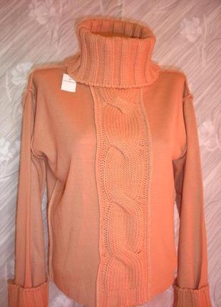 """Стильный свободный свитер с высоким воротом """" adessa woman """""""