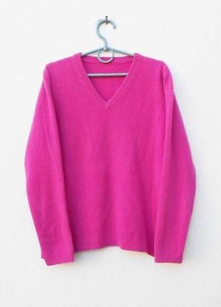 Зимний осенний 100% кашемировый свитер  джемпер с длинным рука...