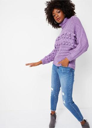 Актуальный объемный свитер оверсайз узор шишки №147