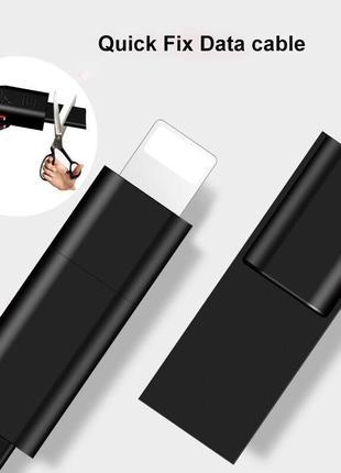 Многоразовый зарядный кабель для iPhone и Android