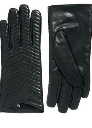 Кожаные стеганые  перчатки asos