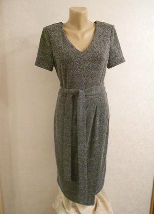 Next универсальное миди платье из плотной ткани, р.10-38, м-ка